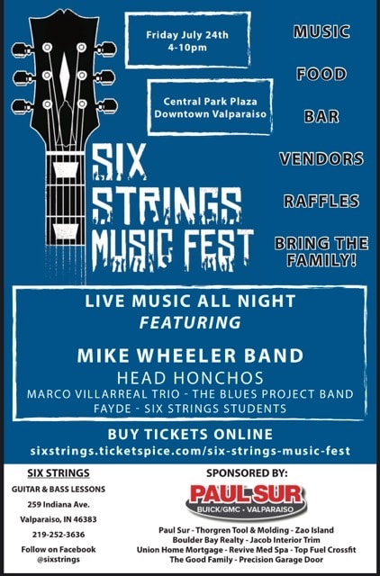 Six Strings Music Fest flier
