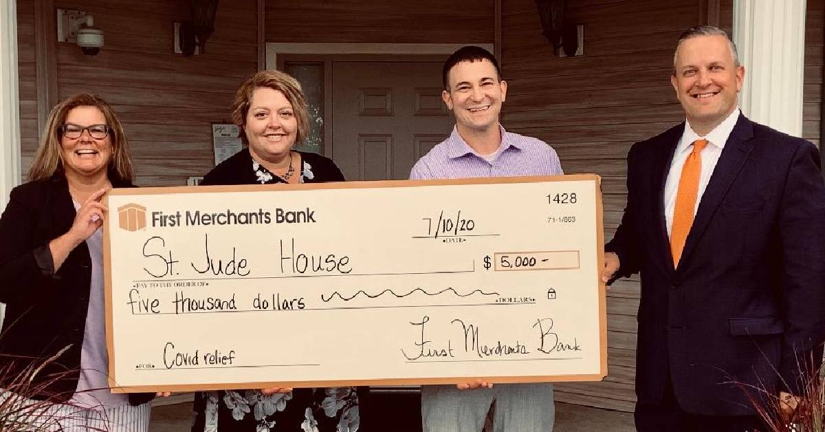 First Merchants Bank donation helps St. Jude House reach $25,000 match challenge goal issued by anonymous donor
