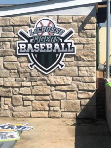 la crosse tigers baseball sign