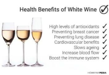 Health benefits for white wine