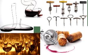 Wine corks and glasses