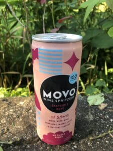 MOVO wine spritzer raspberry rose