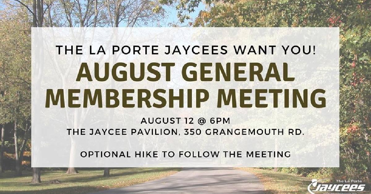 La Porte Jaycees August general membership meeting