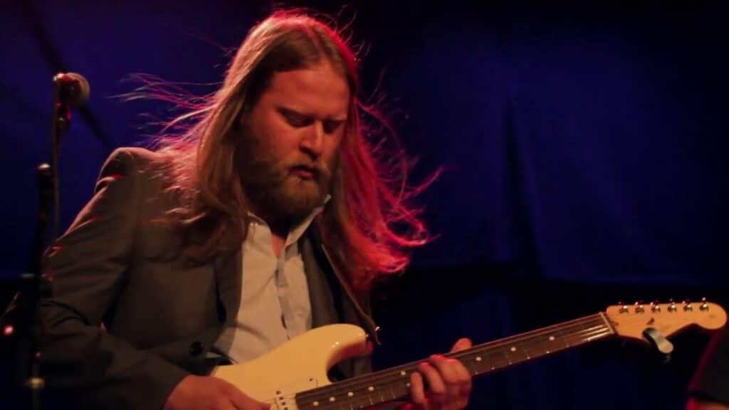 Joe Marcinek playing guitar