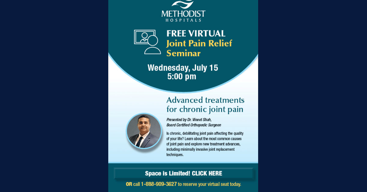 Free virtual joint pain relief seminar