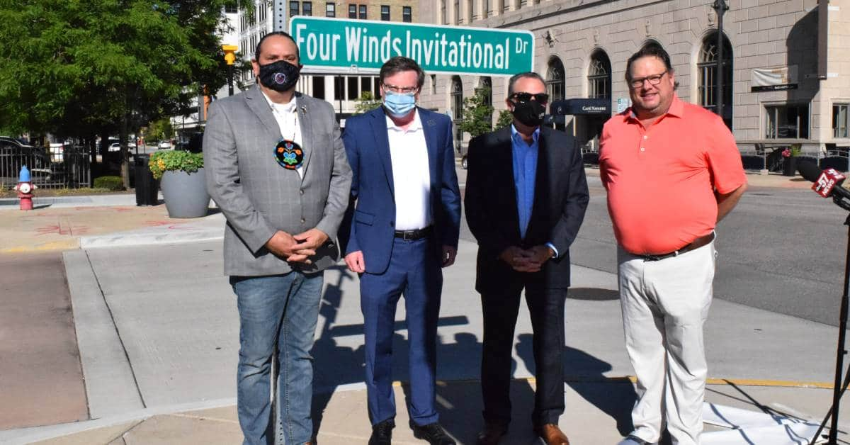 Downtown South Bend renames Michigan Street in honor of the ninth annual Four Winds Invitational