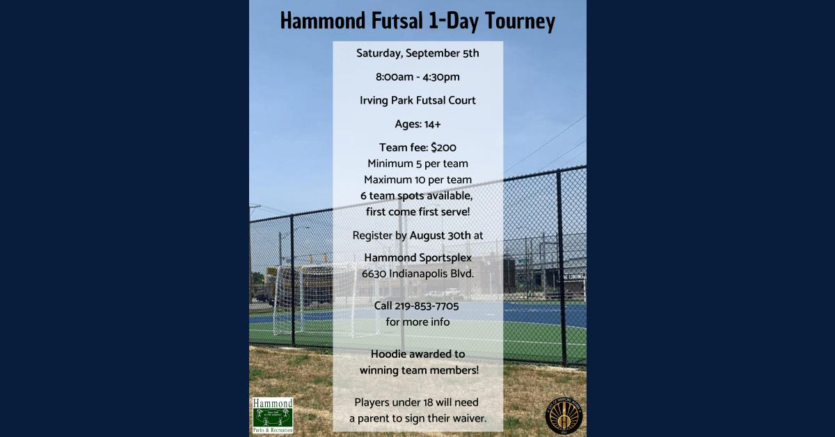 Hammond Futsal: One Day Tournament