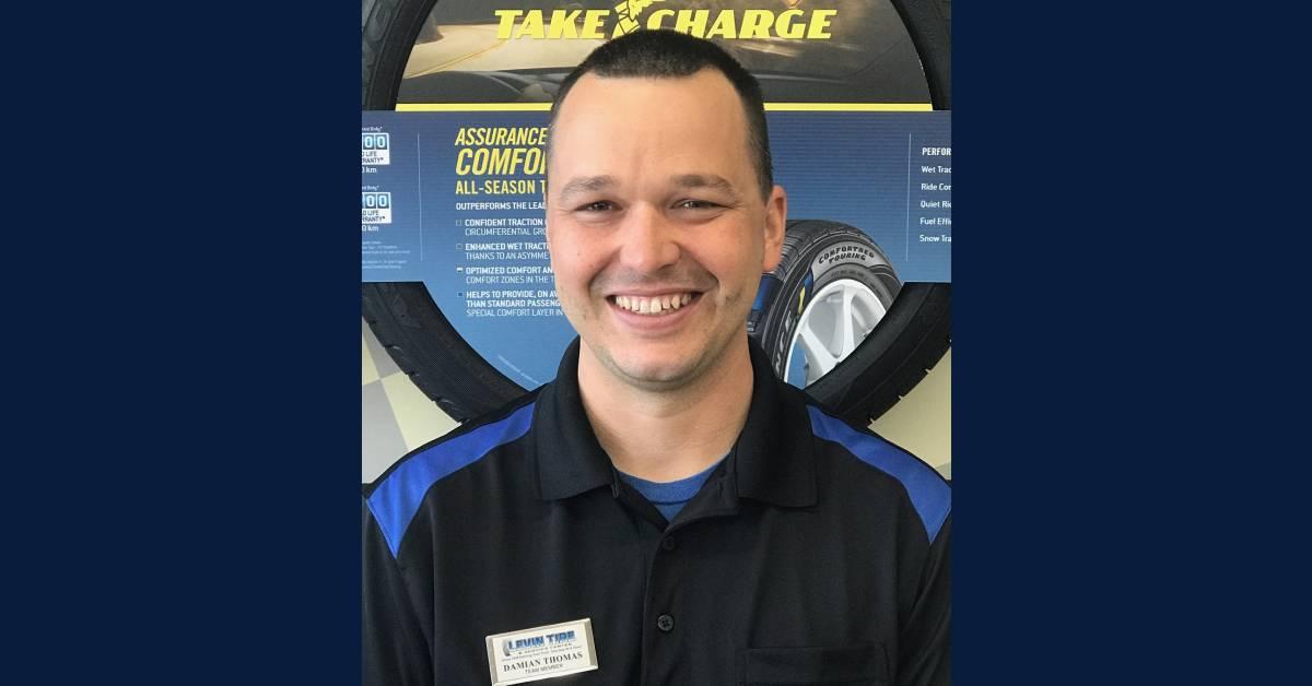 A Levin Tire & Service Center Employee Spotlight: Damian Thomas