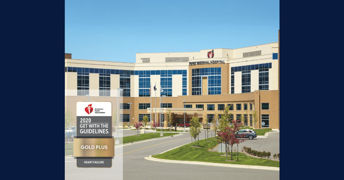 Porter Regional Hospital receives Get With The Guidelines-Heart Failure Gold Plus Quality Achievement Award and the Target Diabetes Type 2 Honor Roll Award