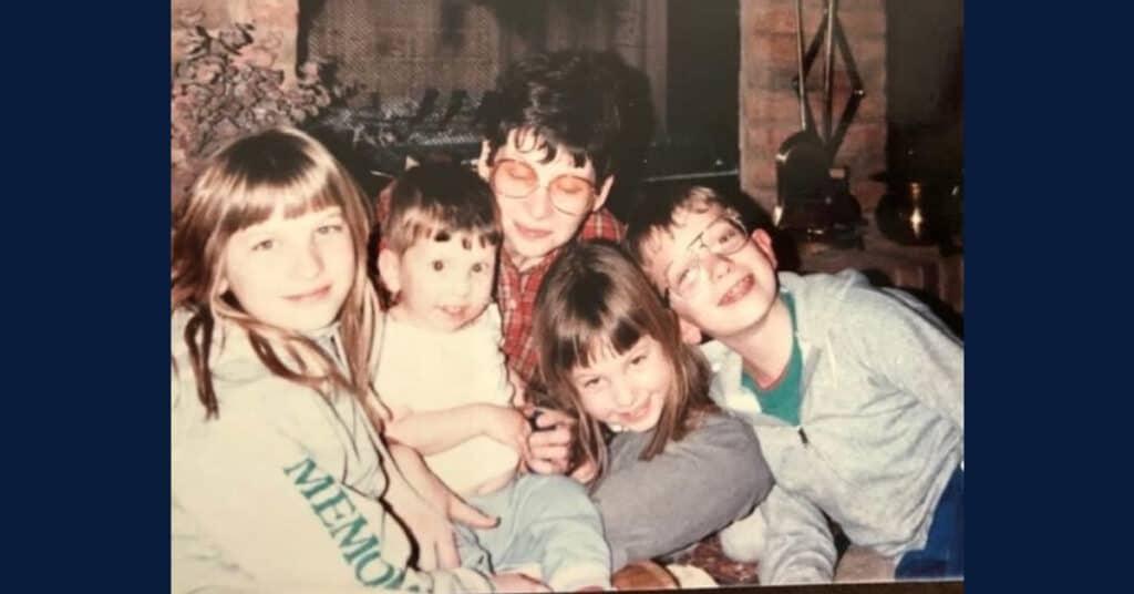 Schwerd family mom and children