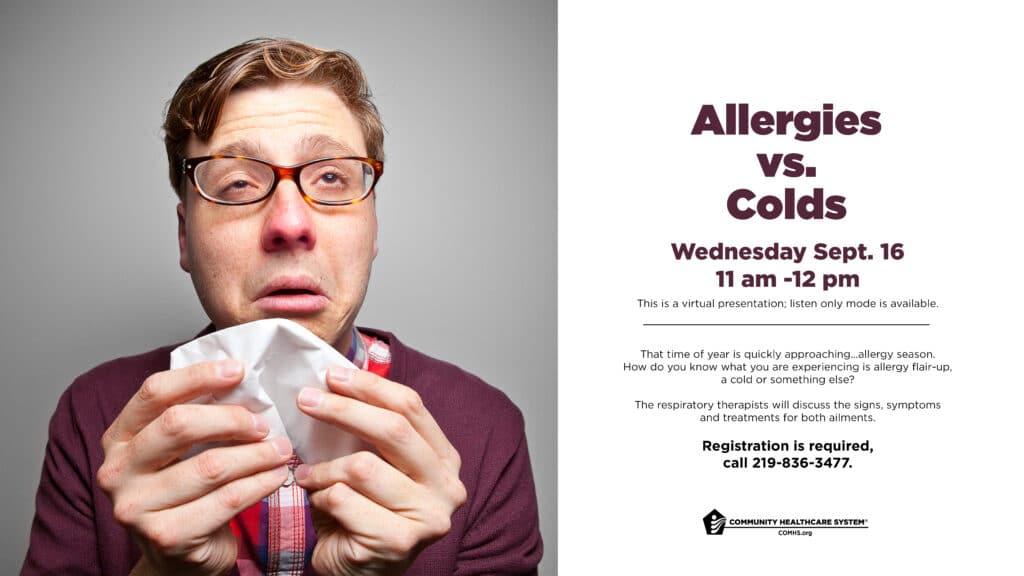 Allergies vs. Colds presentation