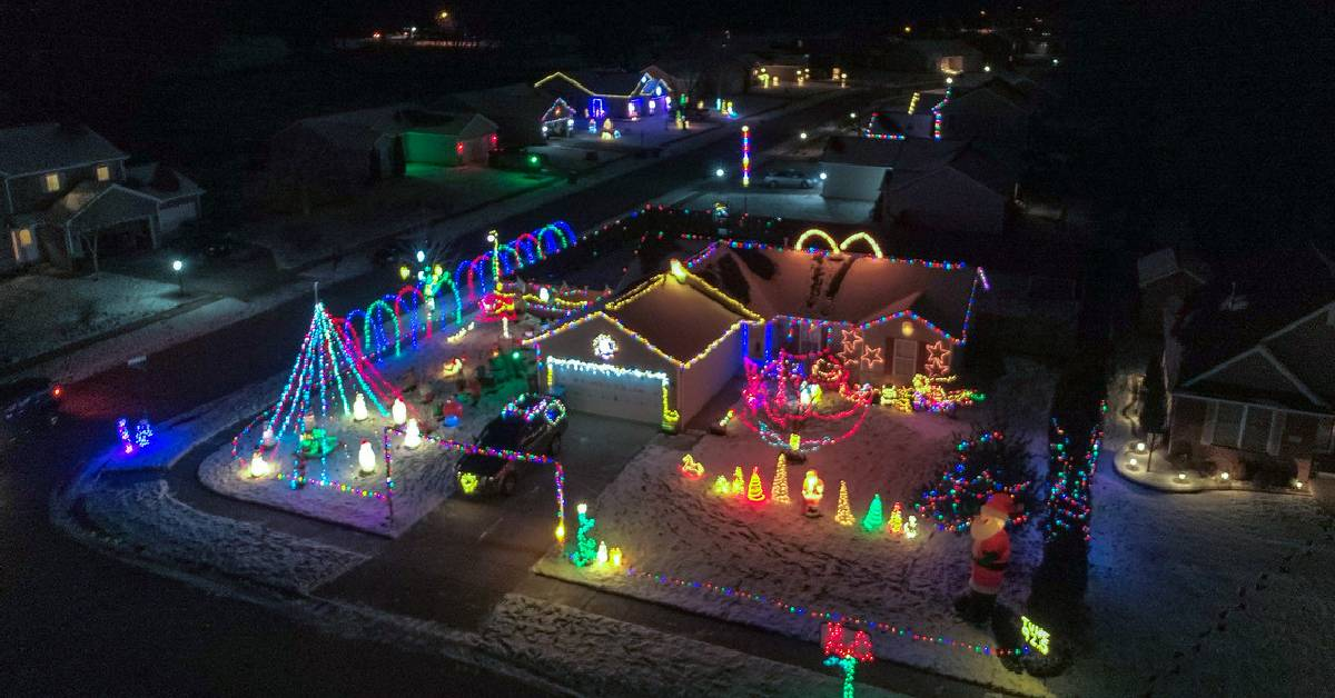 The Bozak Family Christmas lights celebrates family and a good cause