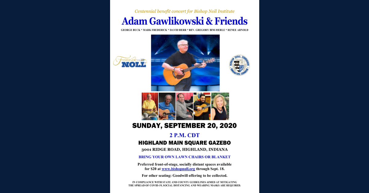 Benefit concert for Bishop Noll