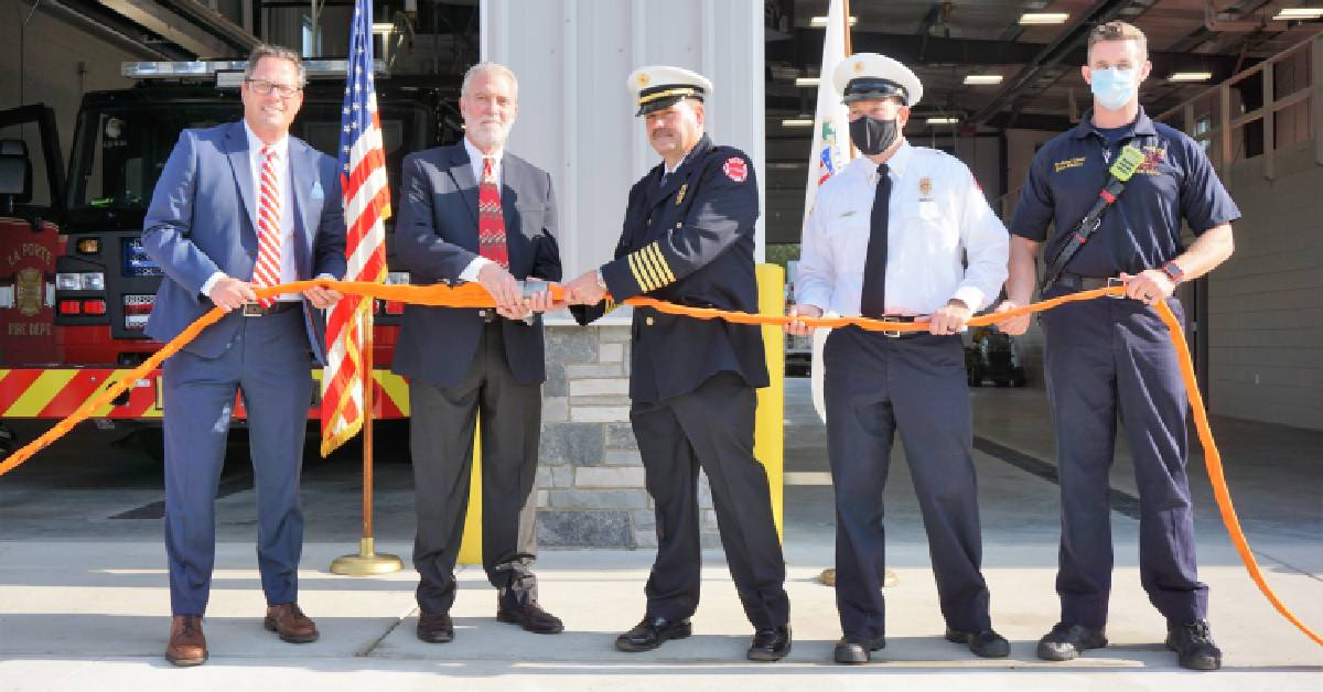 La Porte celebrates opening of newest fire station with hose uncoupling, open house
