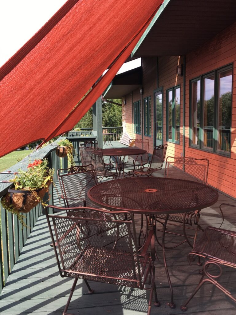 Outdoor seating at Portofino's Grille