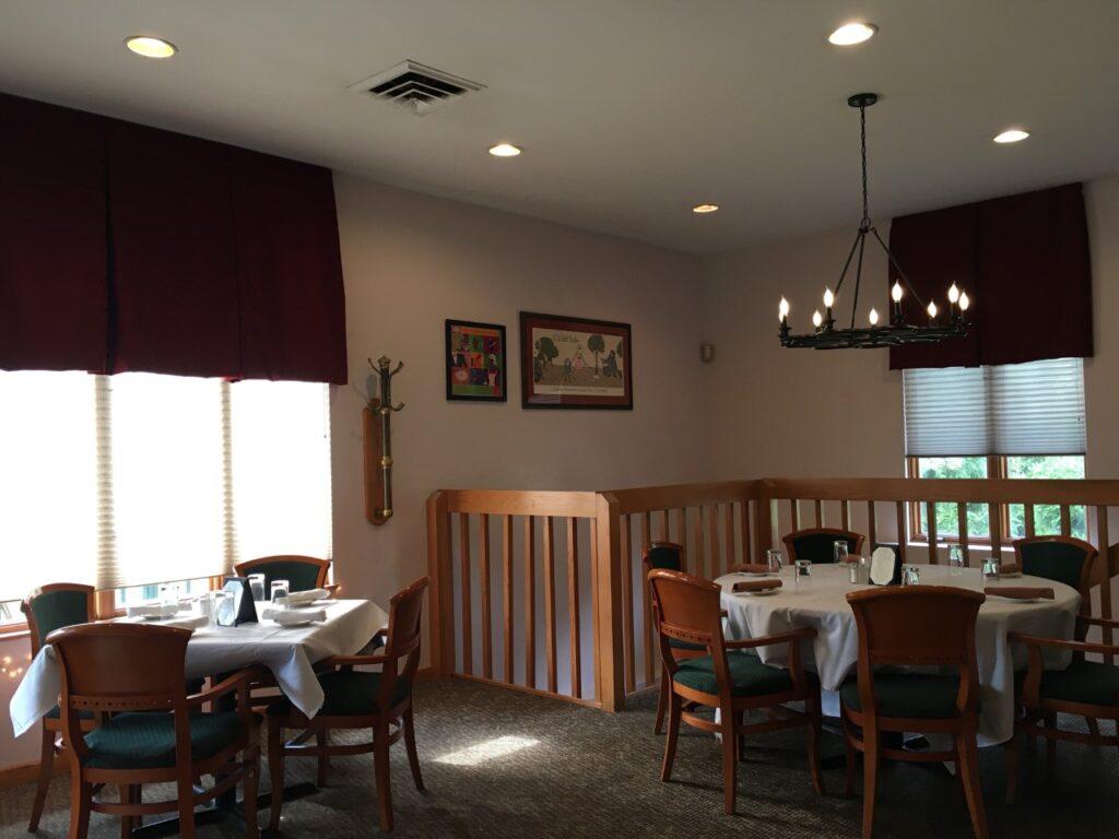 Newly renovated interior of Portofino's Grill.