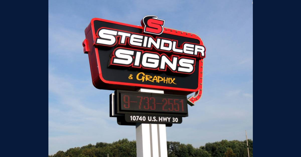 Steindler Signs & Graphix's Illuminated Message Centers help businesses stand out no matter the time of day