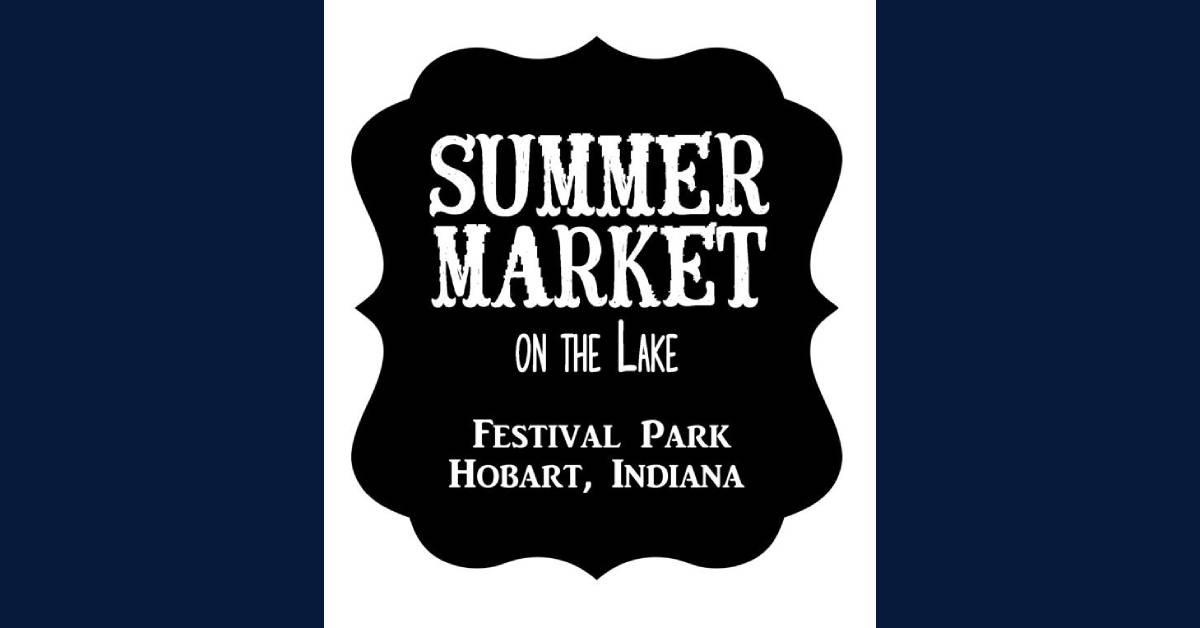 Summer market on the lake