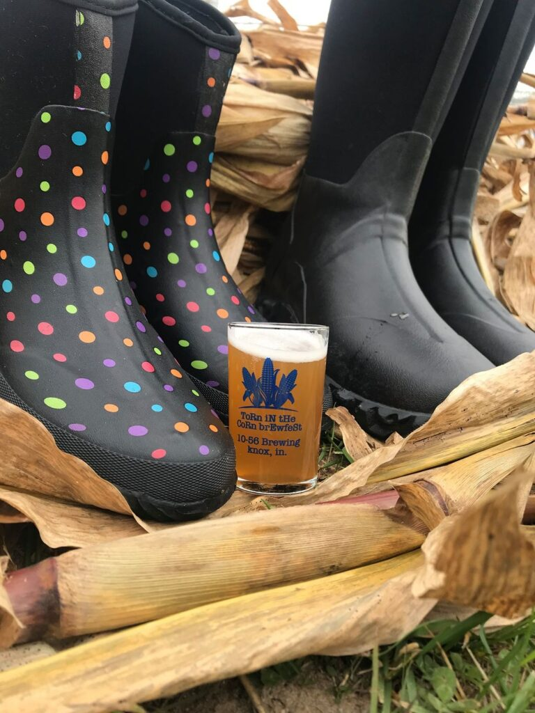 rain boots and beer