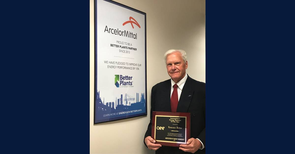 ArcelorMittal USA's Larry Fabina is awarded 2020 International Energy Manager of the Year Award