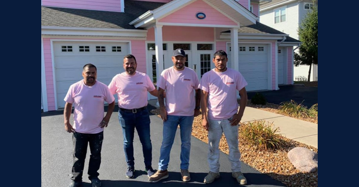 CertaPro Painters of Northwest Indiana Paint It Pink during Breast Cancer Awareness Month