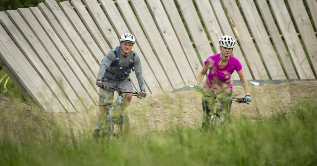 Creekside Bike Trail provides scenic and exciting trails for bikers of all skills and ages