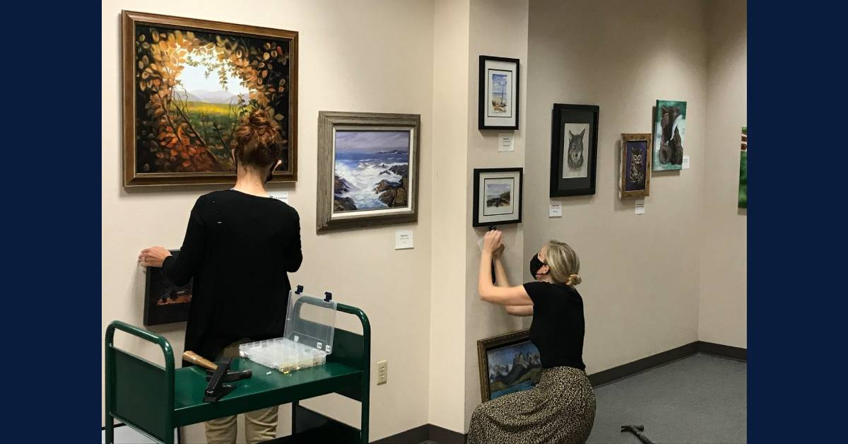 Portage seniors showed off their artistic flair at Portage Public Library this September