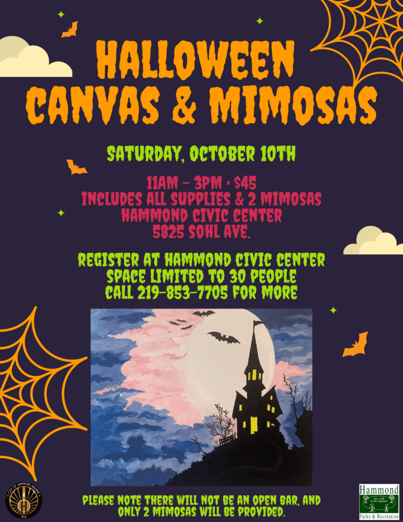 canvas and mimosas flyer
