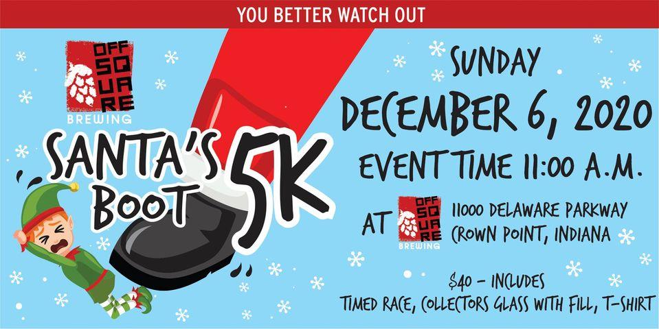 santa's boot 5k flyer