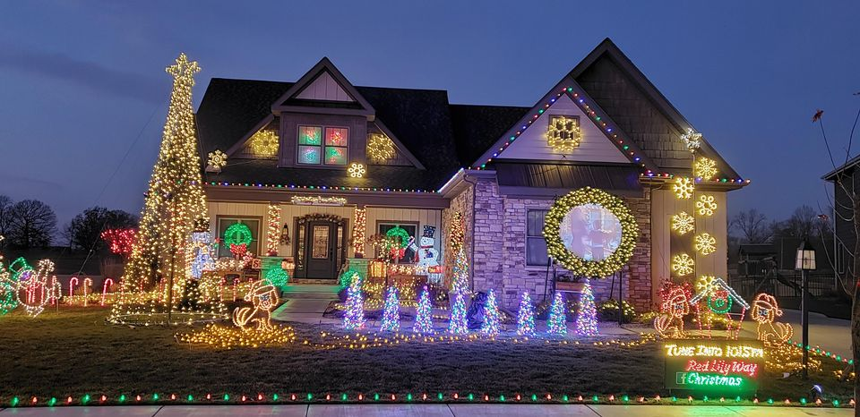 house with Christmas decoration