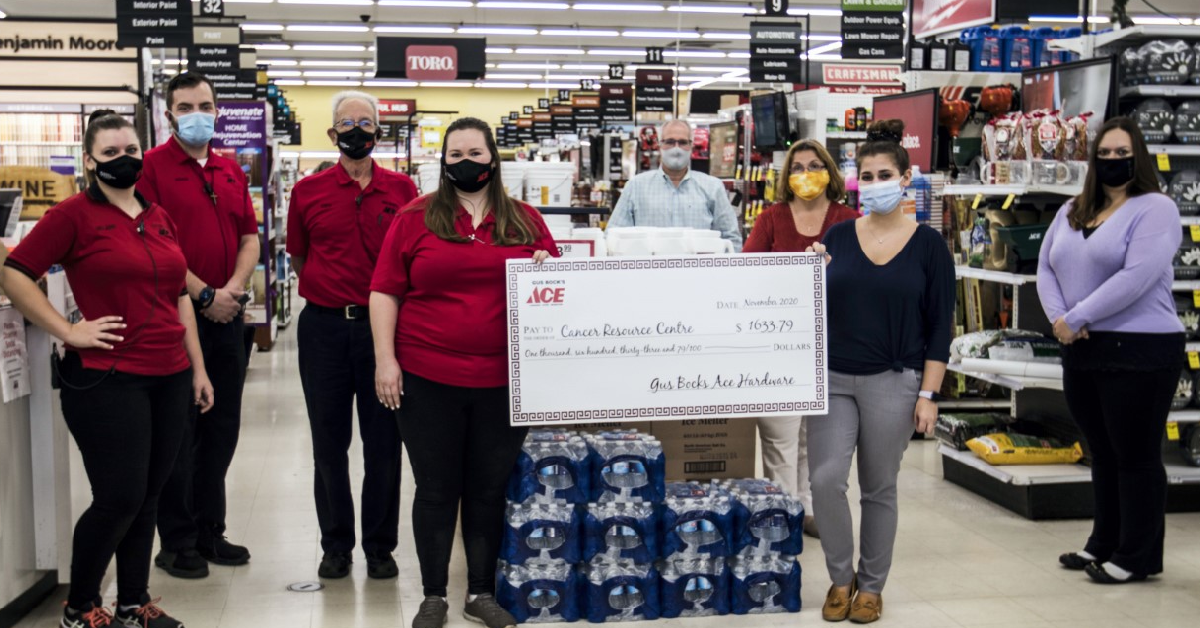 Gus Bock's Ace Hardware round-up program benefits cancer resource centre in Munster