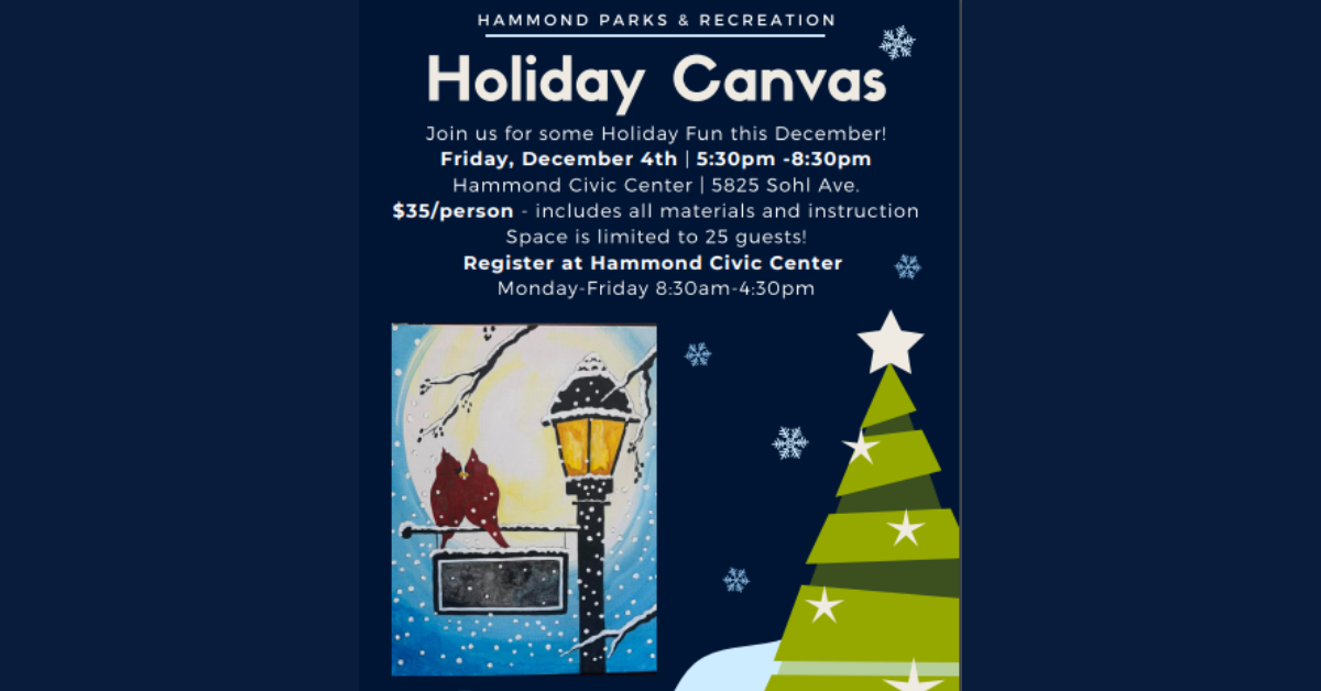 Hammond celebrates the Holidays with Canvas Painting
