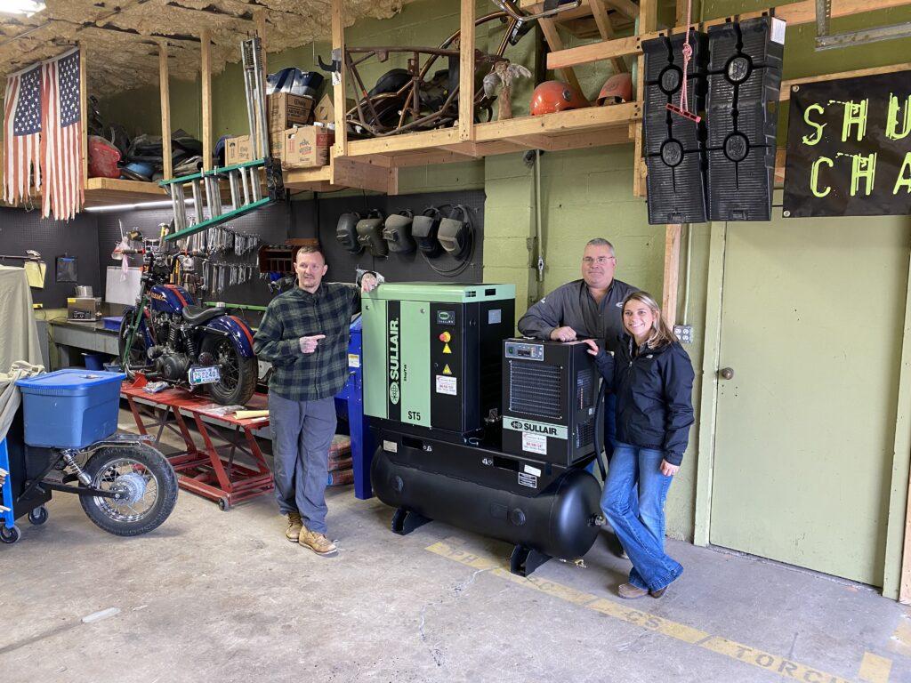 people around compressor