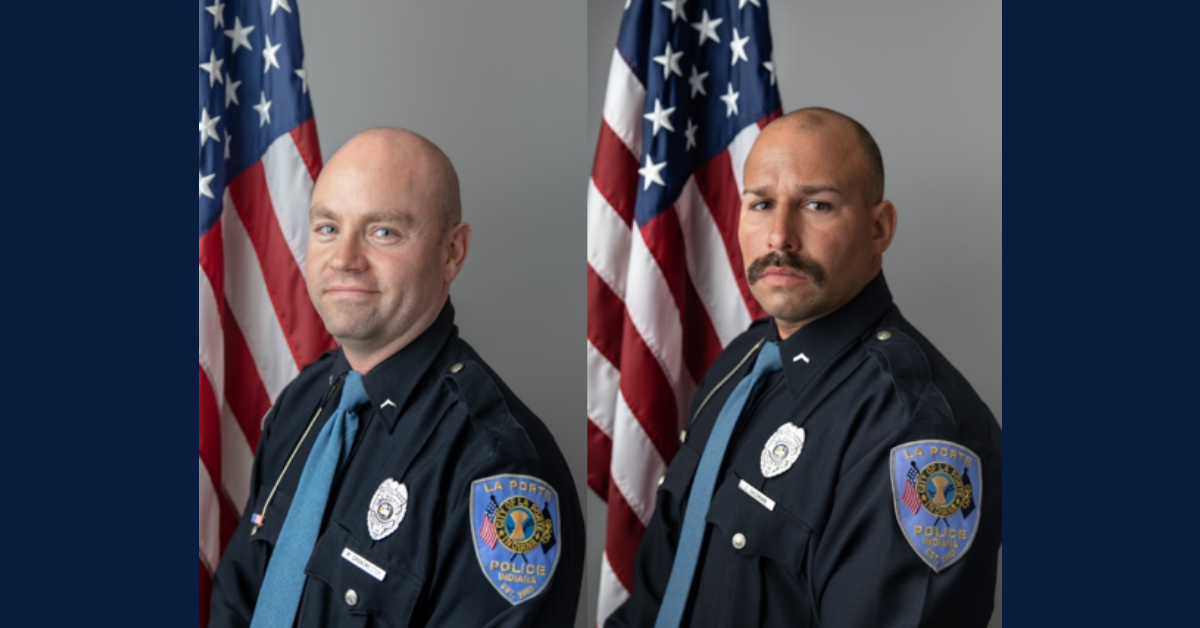 Brettin: Two City of La Porte police officers promoted