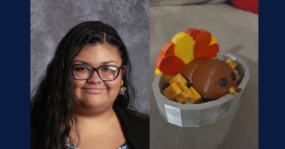 Bishop Noll student's Thanksgiving table will feature one of her 3D creations
