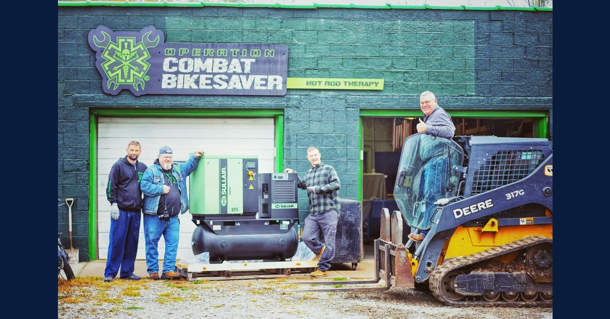 CompressAir donates compressor to Operation Combat Bikesaver