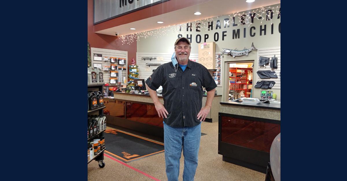 "A Harley-Davidson Shop of Michigan City Employee Spotlight: Tom ""Fish"" Fisher"