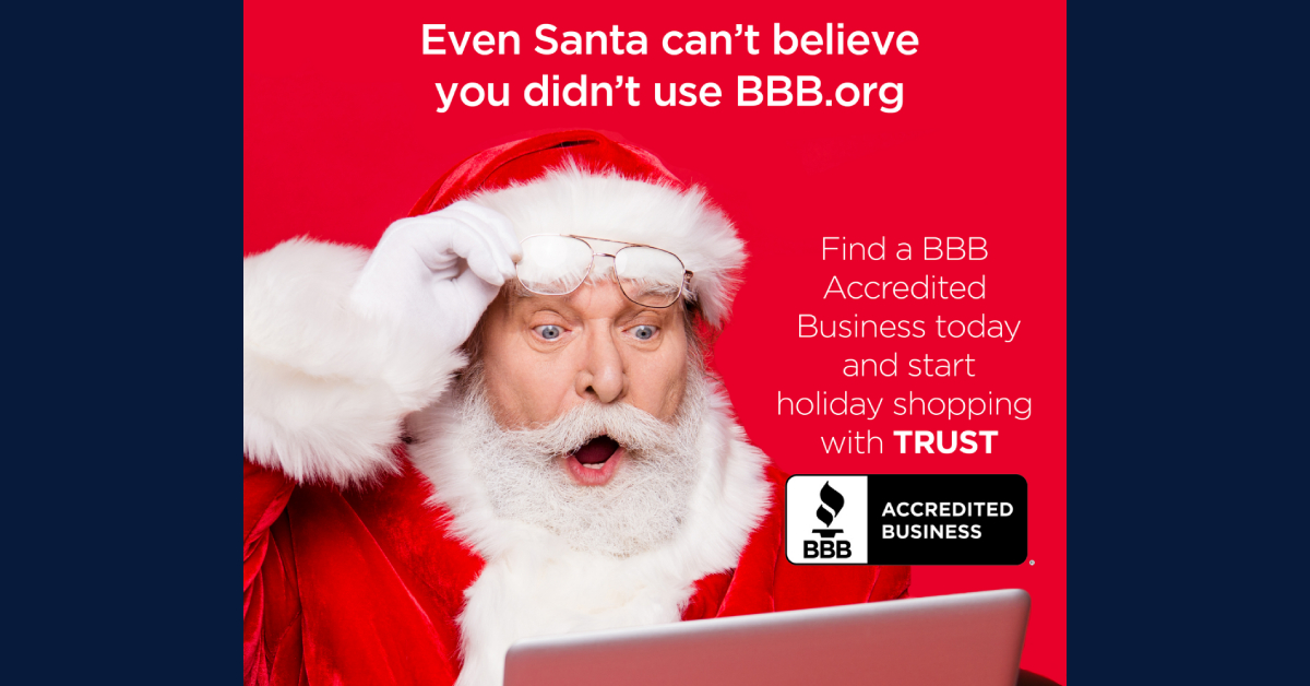 "Better Business Bureau of Northern Indiana encourages shoppers to ""shop safe, shop smart"" this holiday season"