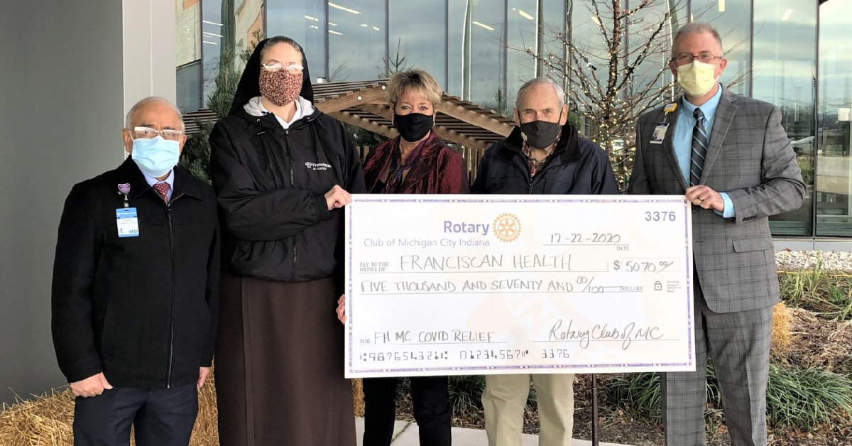 Michigan City Rotary Club gift will assist with remote monitoring of COVID patients