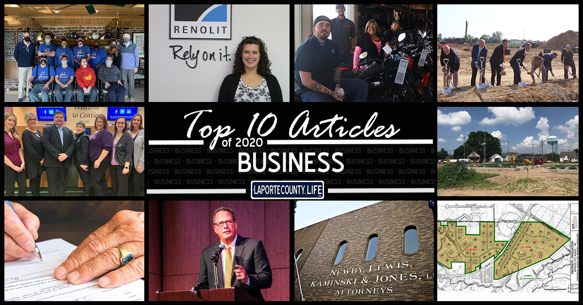 Top 10 business articles on LaPorteCounty.Life in 2020
