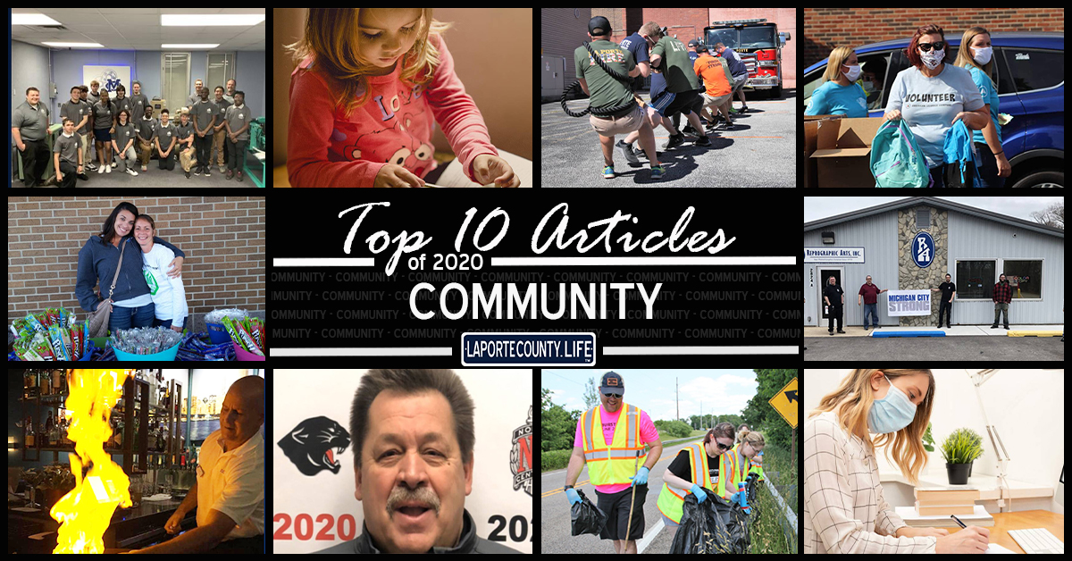 Top 10 community articles on LaPorteCounty.Life in 2020