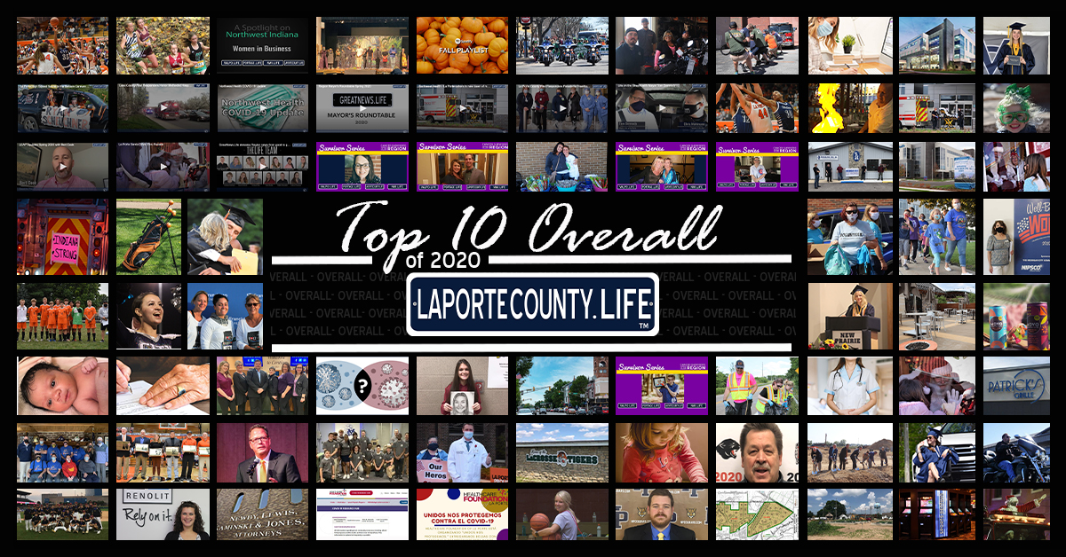 Top 10 overall for LaPorteCounty.Life in 2020