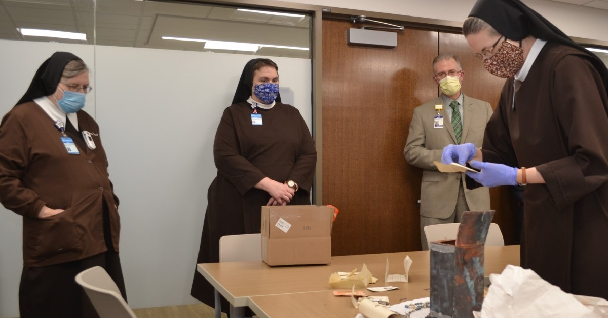 Time capsules from old St. Anthony hospital reveal items preserved from a century ago