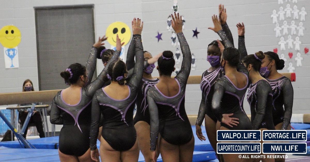 Merrillville High School wins Gymnastics Tri Meet
