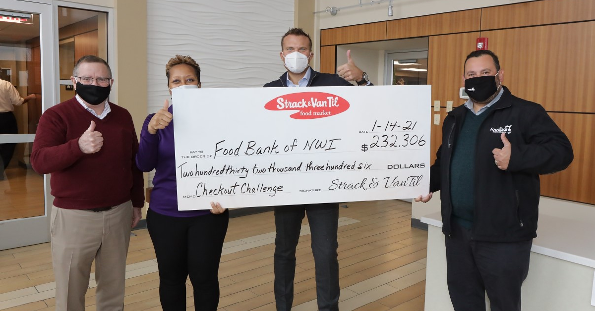 Strack & Van Til Customers Rally to Raise $232,306.56 for the Food Bank of Northwest Indiana during November/December Checkout Challenge
