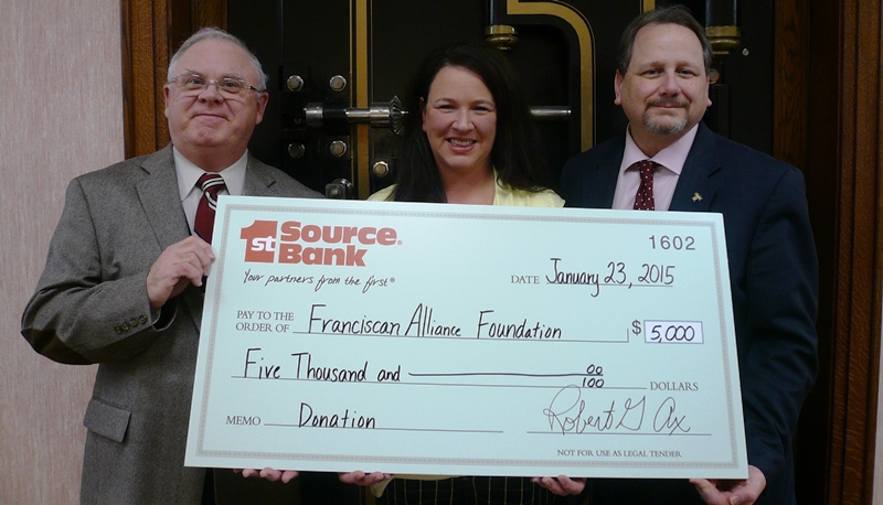 1st Source Bank Makes Donation to Hospital Banks on Car Seat Safety