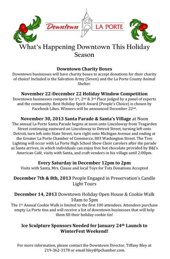 2013 Downtown Events Nov-Dec