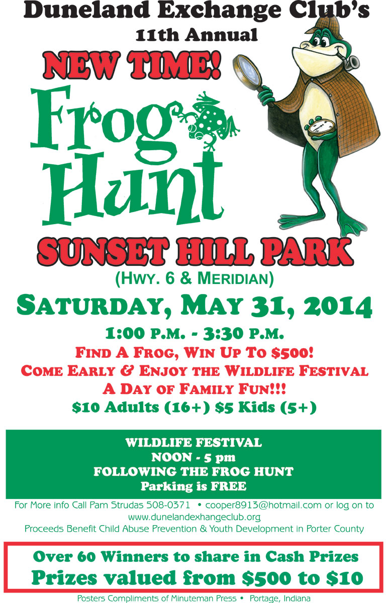 11th Annual Duneland Exchange Club Frog Hunt