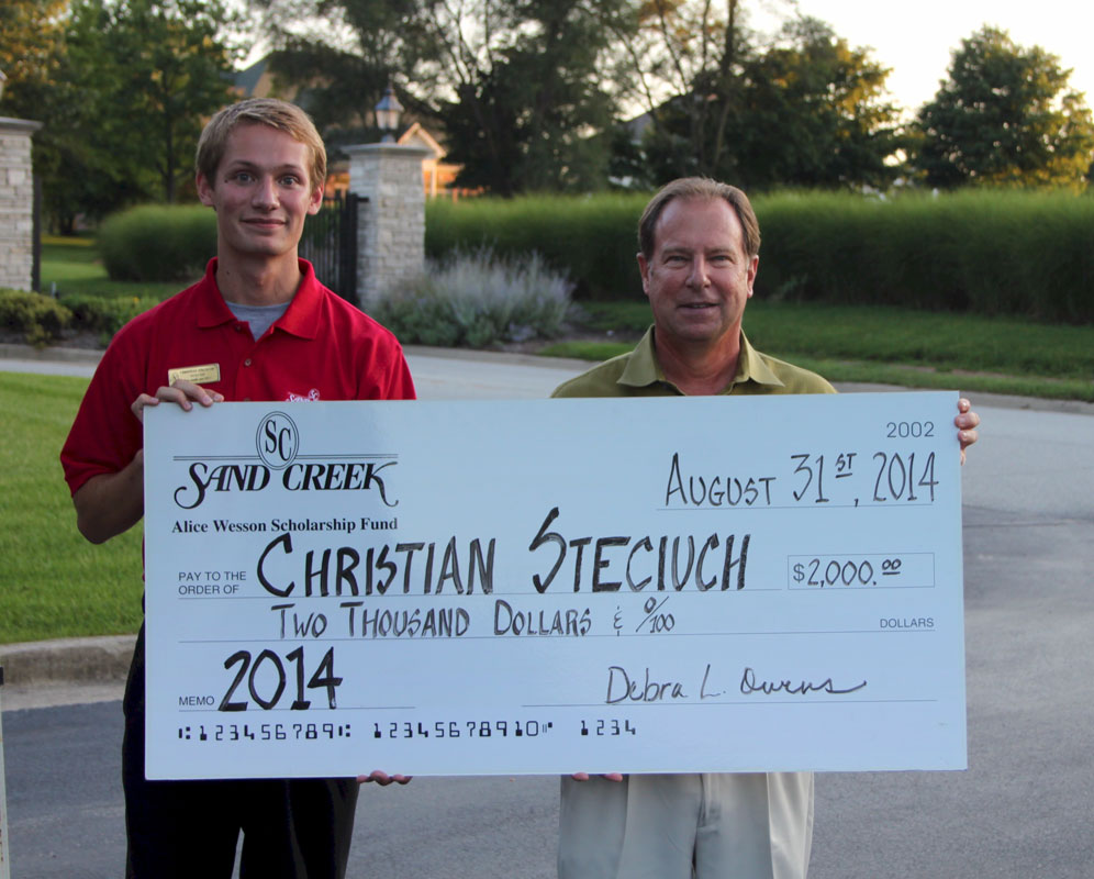Sand Creek Country Club Selects Christian Steciuch as Alice Wesson Scholarship Recipient