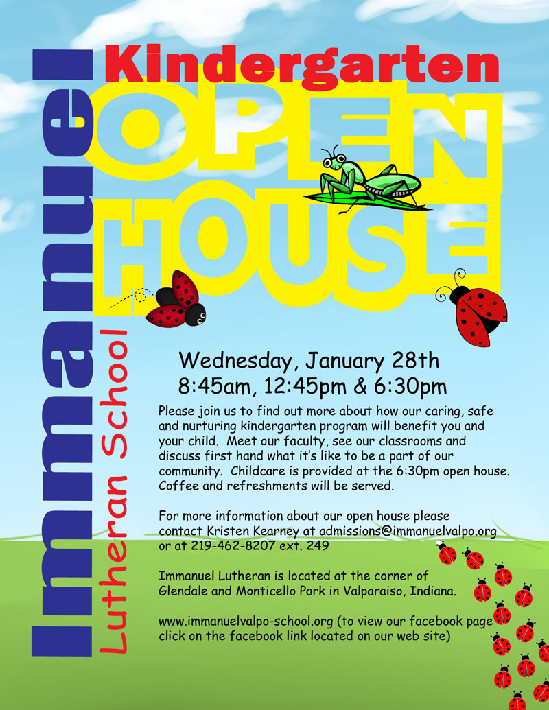 2015 Immanuel Lutheran Kindergarten Open House